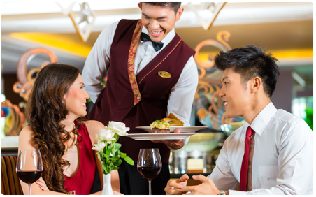 waiter-with-guests