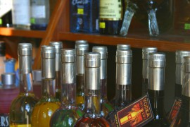 Bottles At Liquor Store