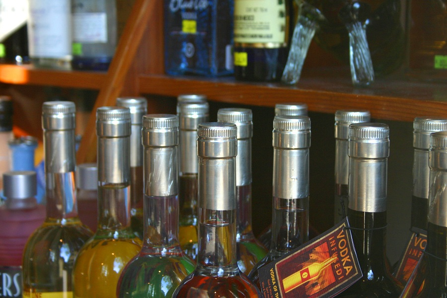 Bottles At Liquor Store