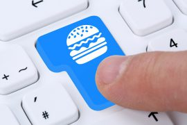 Ordering Hamburger Cheeseburger Online Fast Food Order Delivery