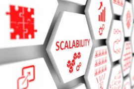 Scalability Concept Cell Blurred Background 3d Illustration