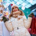 happy holiday retail shopper