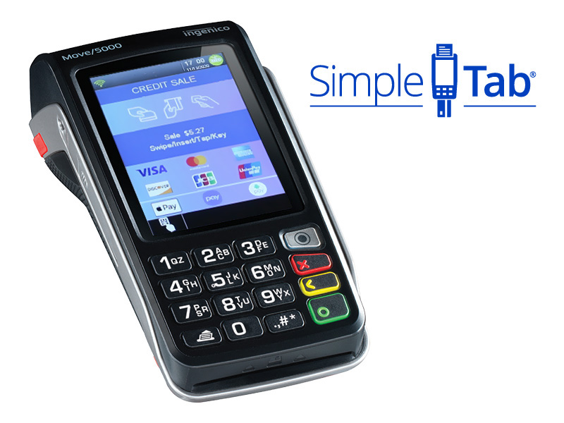 SimpleTab in use with various payment methods