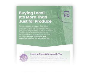 Buying local infographic